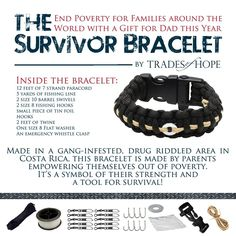 Survivor bracelet , now comes in two sizes! Great gift for the fisherman in your life!