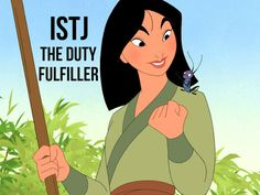 I got : Mulan!! What Is Your Disney Personality Type? (horrible myer's briggs test. very off)