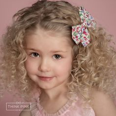 """Our darling """"Rosy Posy"""" Boutique Bow Clippie features a darling 4"""" bow in floral fabric. Each bow is hand tied making it secure. It is set on a simple to open hair clippie that she'll easily be able to put on herself. Explore Think Pink Bows wedding hair accessories and all ocassions for little girls at http://thinkpinkbows.com/products/rosy-posy-boutique-bow-clippie   Kids Fashion"""
