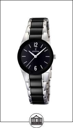 FESTINA F16534/2 - Reloj de mujer de cuarzo, correa de acero inoxidable color negro de  ✿ Relojes para hombre - (Gama media/alta) ✿