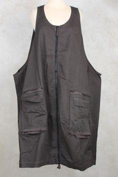 Oversized Dress with Large Pockets in Ash - Rundholz Black Label