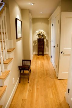 Beautiful hardwood floors complimented by the walls, woodwork, ceiling and doors that we painted!  See more at www.gregorydill.com