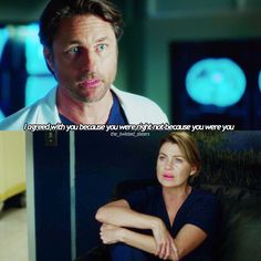 "Scene magistrali che valgono un intero episodio. Adoro. Meredith and Nathan. ""You think I would play around with a patient's well-being in order to get into your pants?"" oh, Riggs. (Greys Anatomy 13x04)"