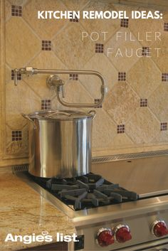 Pot filler faucet: kitchen remodel ideas for mashed potato lovers everywhere