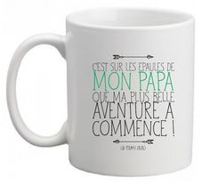 """MUG CERAMIQUE """"message pour papa"""""""