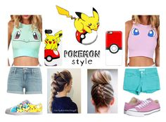"""Pokemon style"" by shoshie13 ❤ liked on Polyvore featuring Casetify, Paige Denim, GUESS and Converse"