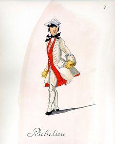 CHURCHILL: French Army 1735 - Infantry Regiment Richelieu, by Gudenus.