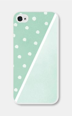 Geometric Phone Case Mint Green Polka Dot