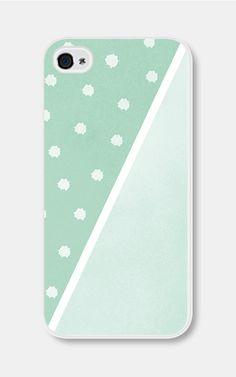 Geometric Phone Case Mint Green Polka Dot