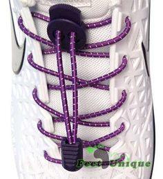 Lacets élastiques 3mm - Violet avec bandes