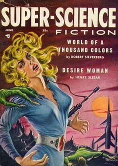 ED EMSHWILLER - June 1957 Super-science Fiction