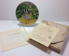Knowles Wizard of Oz Over the Rainbow Collector Plate 13466 E COA Box MGM 1st