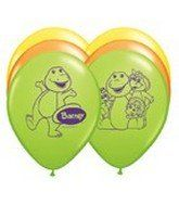 """Amazon.com : Barney Latex 12"""" Balloons - Package of 12 : Childrens Party Balloons : Toys & Games"""