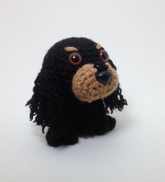 My sister needs to learn to make this crochet cocker spaniel doll- it looks alot like our dog!
