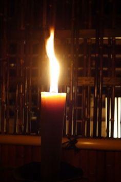 演出に使用された和蝋燭