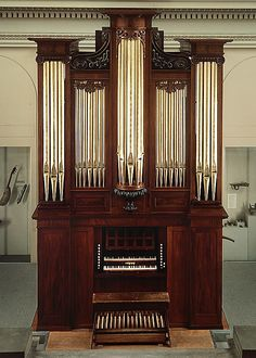 This organ is the oldest and finest extant product of the renowned Boston craftsman Thomas Appleton (1785-1872).