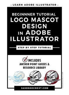 Check out this Adobe Illustrator Tutorial. Beginner Adobe Illustrator logo mascot design tutorial on how to draw a logo using pent tool, live paint, shadows, and strokes. In this easy to follow tutorial we will be going through our resource document to build our character and practice using the pen tool.