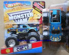 2012 Virginia Giant Monster Jam 1:64 Hot Wheels Truck 1st Editions Topps Card #HotWheels #diecast