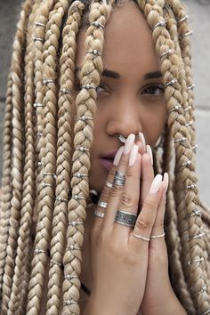 I love the jewelry in her braids