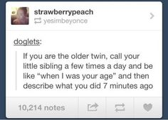 If I were a twin...