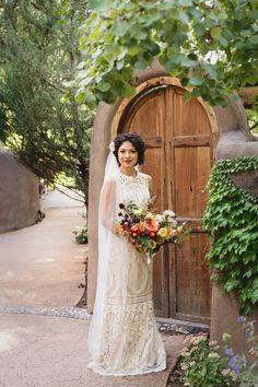 Rocky Mountain Bride V2 New Mexico // El Monte Sagrado via Rocky Mountain Bride // Taos Wedding // @a_swan @RenegadeFloral @heritagehtls @emmaandgrace13 @BHLDN