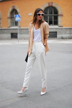 high waist white pant