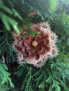Pine Cone Hair Clip Pinecone Headpiece Fall by LACEDheadbands #teampinterest