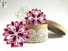 Baby-Girls Kanzashi Hair Clip Accessories, Barrettes ( Pack of 2) - Bridal fashion accessories (*Amazon Partner-Link)