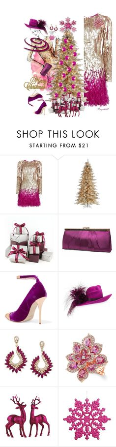 """""""Perfect  Party Dress"""" by ragnh-mjos ❤ liked on Polyvore featuring Matthew Williamson, INC International Concepts, Alex Monroe, Gunne Sax By Jessica McClintock, Balmain, Philip Treacy, Effy Jewelry and Anne Sisteron"""