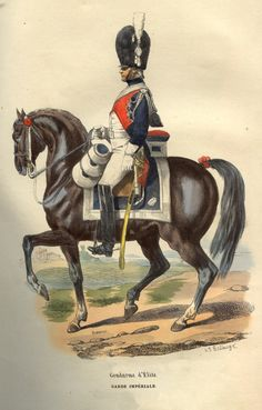 An elite gendarme of Napoleon's Imperial Guard, early 19th century, by Hippolyte Bellangé.