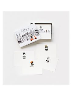Global Greetings Social Stationery Set (Set of 12) by Rifle Paper Co. at Gilt