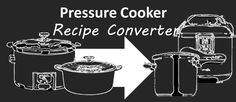 The Pressure Cooker Recipe Converter! This tool will convert any recipe to the pressure cooker -be it a conventional or slow cooker.
