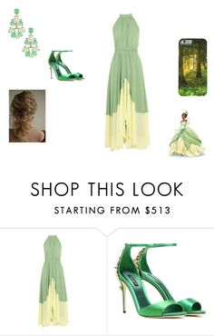 """""""Tiana"""" by kpantz on Polyvore featuring Saloni, Dolce&Gabbana and Pretty Green"""