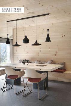 Inspiración: Paredes de madera | Decorar tu casa es facilisimo.com