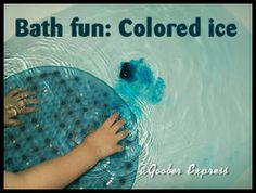 Bath Fun: Colored Ice