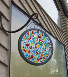 How to Display Fused Glass | Fused Glass Color Burst Garden or Window Display