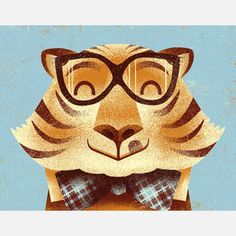Tiger Portrait Print now featured on Fab.