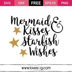Create your DIY projects using your Cricut Explore, Silhouette and more. The free cut files include SVG, DXF, EPS and PNG files. Silhouette Cameo Projects, Silhouette Design, I Need Vitamin Sea, Mermaid Kisses, Vinyl Projects, Svg Files For Cricut, Cricut Fonts, Svg Cuts, Cricut Design