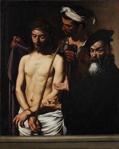 Caravaggio (1573–1610). Ecce Homo, circa 1605, 128x103 cm, Musei di Strada Nuova - Palazzo Bianco   http://en.wikipedia.org/wiki/File:Caravaggio_(Michelangelo_Merisi)_-_Ecce_Homo_-_Google_Art_Project.jpg