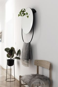 Hallway inspiration | Menu Plant pot and stand available at www.istome.co.uk | @juliaalena