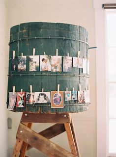 """childhood photo display near the gift table or guestbook to make our relatives cry!"""