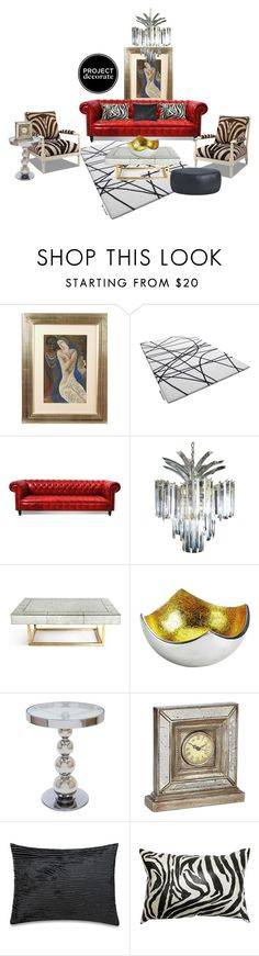 """Edgy Glam Home Deco!!"" by littlefeather1 ❤ liked on Polyvore featuring interior, interiors, interior design, home, home decor, interior decorating, Bela, Therapy, Jonathan Adler and Impulse"