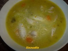 ΚΟΤΟΣΟΥΠΑ ΑΥΓΟΛΕΜΟΝΟ Greek Recipes, Cheeseburger Chowder, Family Meals, Meat, Soups, Blog, Greek Food Recipes, Soup