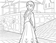 Anna and Hans on the Boat Coloring Page Coloring Page Frozen