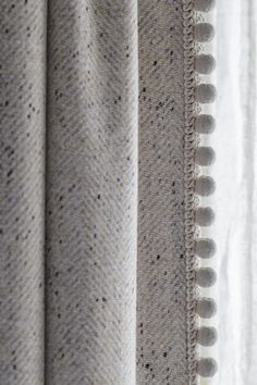 Curtain details by Gunter & Co Interiors. Curtains With Blinds, Window Curtains, Curtains Living, Curtain Pelmet, Drapery, Curtain Styles, Curtain Designs, Window Treatments, Ideas