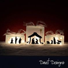 Nativity Scene Vinyl Lettering - fits perfect on inch glass block and two inch glass blocks Christmas Glass Blocks, Christmas Nativity, Christmas Projects, Holiday Crafts, Christmas Time, Christmas Ornaments, Christmas Bells, Felt Ornaments, Christmas Vinyl