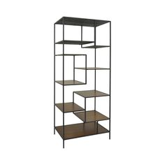 Add a touch of adventure and fun into your mid-century casual décor with this Plane Sight Shelving Unit. Multiple levels of wood shelving, playfully arranged into an iron frame, lend the look of a play...  Find the Plane Sight Shelving Unit, as seen in the The Gentleman's Guide to Dapper Loft Living Collection at http://dotandbo.com/collections/the-gentlemens-guide-to-dapper-loft-living?utm_source=pinterest&utm_medium=organic&db_sku=112785