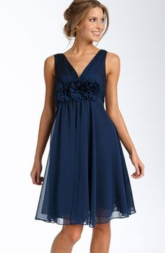 Adrianna Papell Rosette Chiffon Dress available at #Nordstrom