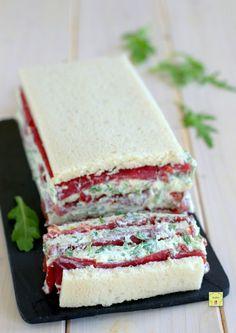 Sandwiches, Sandwich Cake, Italian Recipes, Mexican Food Recipes, Savoury Cake, Antipasto, Food Illustrations, High Tea, Pain