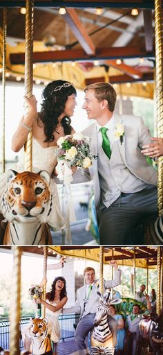 Carousel, bride and groom, jordanquinn photography, Brookfield Zoo wedding / Chicago wedding venue Romantic Wedding Photos, Wedding Poses, Trendy Wedding, Perfect Wedding, Our Wedding, Dream Wedding, Wedding Tips, Chicago Wedding Venues, Unique Wedding Venues